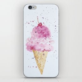 Ice cream Love Summer Watercolor Illustration iPhone Skin