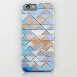 Triangle Pattern no.1 Blues and Browns iPhone Case