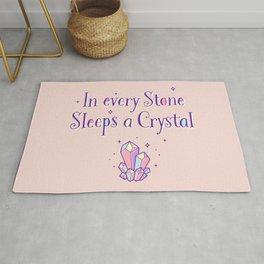 In every stone sleeps a crystal Rug