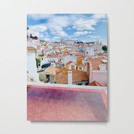 Red Roofs & Pools of Lisboa Metal Print