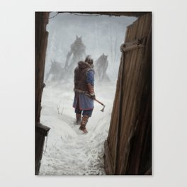 Knock, Knock. Canvas Print