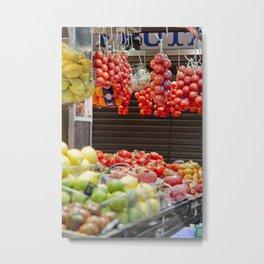 Spanish Fruit Bazaar Metal Print
