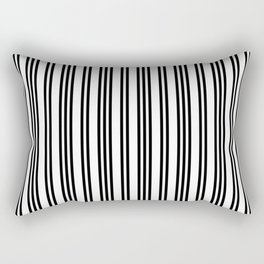 Black and White Piano Stripes Repeating Pattern Rectangular Pillow