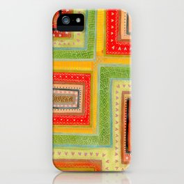 Autumnal tangle tracks iPhone Case