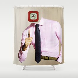 Business Man Alarm Shower Curtain