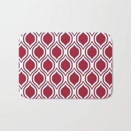 Crimson and white Alabama pattern university of alabama crimson tide college Bath Mat