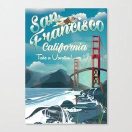 San Francisco Golden Gate vintage travel poster Canvas Print