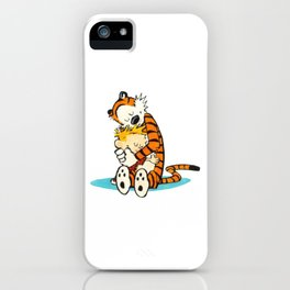 Calvin and Hobbes Hugs 2 iphone case