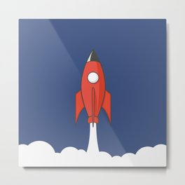 Spaceship Metal Print