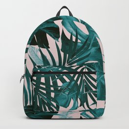 Tropical Jungle Leaves Pattern #3 #tropical #decor #art #society6 Backpack