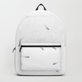Abstract art in simple things, black, graffity, drawing Backpack