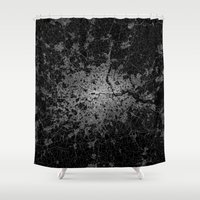 london Shower Curtains featuring London by Line Line Lines