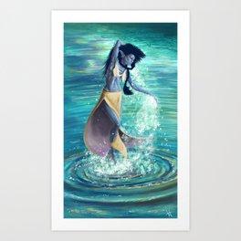 Water dance Art Print