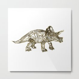 GOLD TRICERATOPS Metal Print