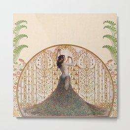 Ornate Art Deco Metal Print