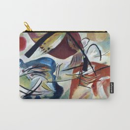 With the Black Bow, 1912 by Wassily Kandinsky Carry-All Pouch
