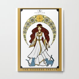 The Norse Goddess Freyja Tarot Card Metal Print