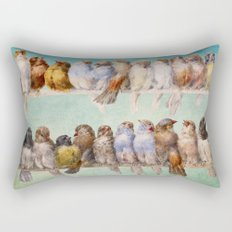 Birds Birds Birds Rectangular Pillow