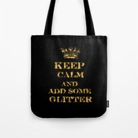 keep calm Tote Bags featuring Keep calm by UtArt