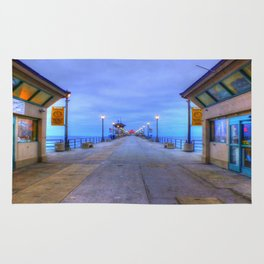 Before Dawn  * Huntington Beach Pier Rug