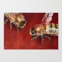 bees Canvas Prints featuring Bees by Dana Martin