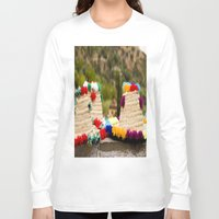 hats Long Sleeve T-shirts featuring Straw hats by Simon Ede Photography
