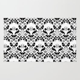 Abstract seamless black and grey ornament Rug