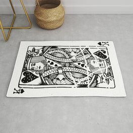 The king of all hearts Rug