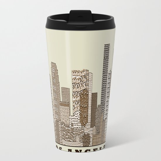 los angeles city Metal Travel Mug