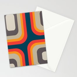 Mid Century - Squares Stationery Cards