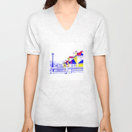 Romania Unisex V-Neck
