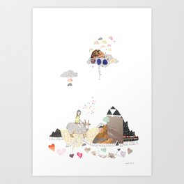 Hermit Crab vs. Snail Art Print