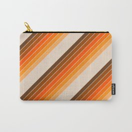 Tan Candy Stripe Carry-All Pouch