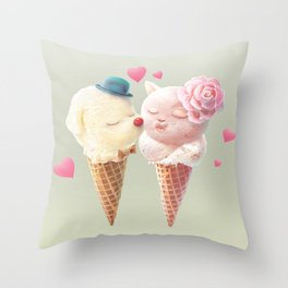 Ice Cream Love Throw Pillow