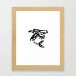 Orca Tribal Tattoo Design Framed Art Print