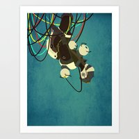 glados Art Prints featuring GlaDos by keygrin