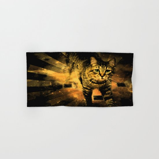 Cat Fire Of The Crossing Oblivion Hand & Bath Towel