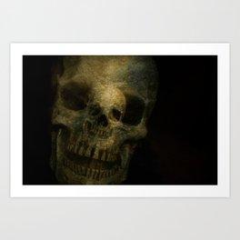 Double Exposure Skulls Photograph Art Print