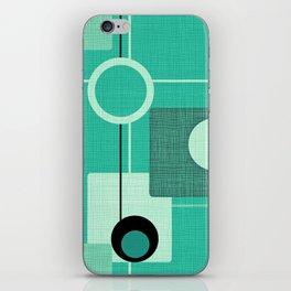 Orbs and Squares (aqua) iPhone Skin