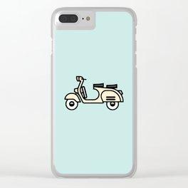 Surfer Bike Vespa Clear iPhone Case