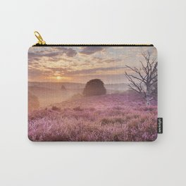 III - Blooming heather at sunrise, Posbank, The Netherlands Carry-All Pouch