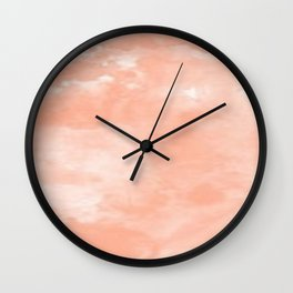 Peach Dreams Wall Clock