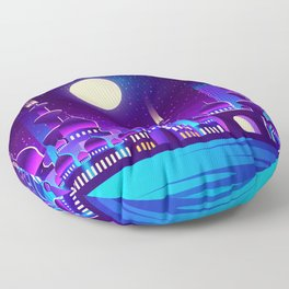 Synthwave Space #43 Floor Pillow