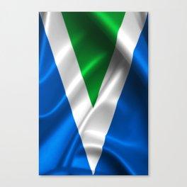 Vegan Flag on soft and shiny clothing Canvas Print