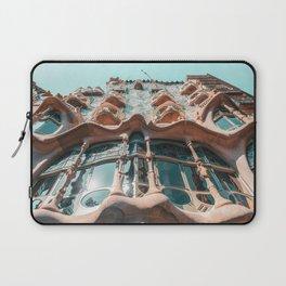 Casa Batllo, Barcelona Travel Print, Antoni Gaudi Architecture, Famous Spain Attractions, Touristic Landmark, Organic Modernist Architecture Building Facade Laptop Sleeve