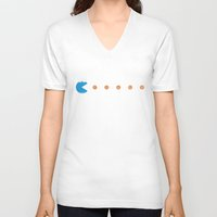 cookies V-neck T-shirts featuring cookies by king milk