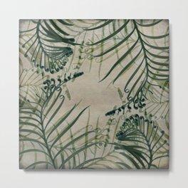 Cycas Leaves Abstract Metal Print