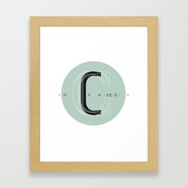 C c Framed Art Print