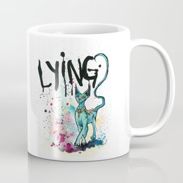 Lying Cat Coffee Mug