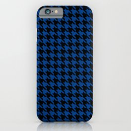 Black and Blue Classic houndstooth pattern iPhone Case